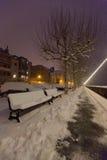 Sneeuw Behandelde Bank III Royalty-vrije Stock Fotografie
