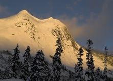 Sneeuw behandelde berg Royalty-vrije Stock Foto's