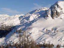 Sneeuw behandelde bergen Royalty-vrije Stock Afbeelding