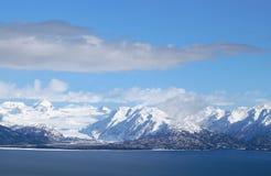 Sneeuw behandelde gletsjer Royalty-vrije Stock Afbeelding