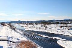 Sneeuw behandelde grond Royalty-vrije Stock Afbeeldingen