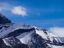 Sneeuw behandelde piek Royalty-vrije Stock Foto's