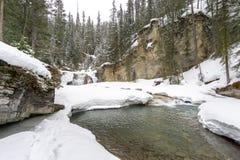 Sneeuw Behandelde Rivier royalty-vrije stock foto