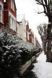 Sneeuw behandelde straat Royalty-vrije Stock Afbeeldingen
