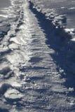 Sneeuw Behandelde Weg Stock Afbeeldingen
