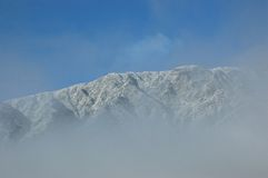 Sneeuw berg stock foto