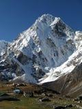 Sneeuw Berg en dorp Stock Foto's