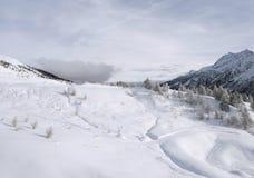 Sneeuw bergen, Italië royalty-vrije stock foto's
