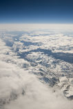 Sneeuw bergen luchtmening royalty-vrije stock afbeeldingen