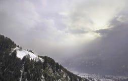 Sneeuw berglandschap Royalty-vrije Stock Afbeeldingen