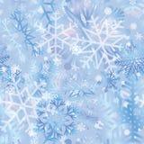 Sneeuw betegeld patroon Sneeuwvlokken geweven achtergrond Witte sneeuw Stock Afbeeldingen