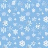 Sneeuw betegeld patroon Sneeuwvlokken geweven achtergrond Witte sneeuw Stock Foto