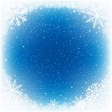 Sneeuw blauwe waterpoel stock illustratie