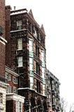 Sneeuw in Boston Stock Foto