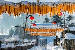 Sneeuw in China Stock Foto