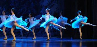 Sneeuw de elf-eerste handeling van het vierde Land van de gebiedssneeuw - de Balletnotekraker royalty-vrije stock afbeeldingen