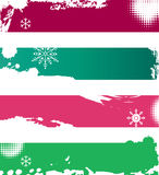 Sneeuw de winterbanners Stock Afbeeldingen