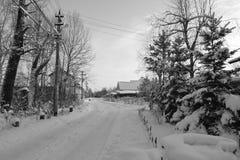 Sneeuw de winterlandschap Royalty-vrije Stock Afbeelding