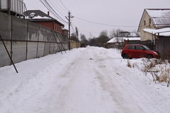 Sneeuw de winterlandschap Royalty-vrije Stock Fotografie