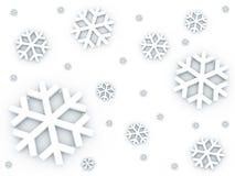 Sneeuw die onderaan patroon valt Stock Foto's