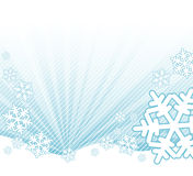 Sneeuw die op het landschap valt stock illustratie