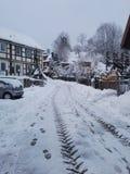 Sneeuw in Duitsland Royalty-vrije Stock Fotografie