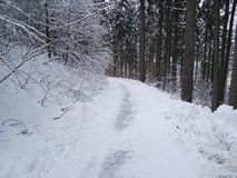 Sneeuw in Duitsland Royalty-vrije Stock Afbeeldingen