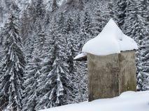Sneeuw en berg Stock Afbeelding