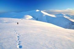 Sneeuw en bergen Royalty-vrije Stock Afbeeldingen