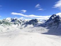 Sneeuw en bergen. royalty-vrije stock foto's
