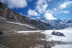 Sneeuw en bergen in Nepal Royalty-vrije Stock Foto
