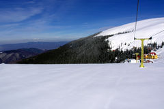 Sneeuw en en hemel Royalty-vrije Stock Fotografie