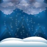 Sneeuw en het ontwerp van alpen vector illustratie
