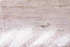 Sneeuw en houten achtergrond Royalty-vrije Stock Afbeelding