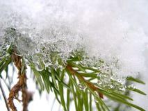 Sneeuw en ijs in de winter royalty-vrije stock fotografie