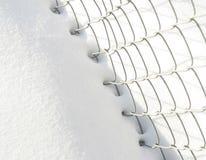 Sneeuw en omheining Royalty-vrije Stock Afbeelding