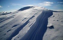 Sneeuw en schaduwen Royalty-vrije Stock Foto