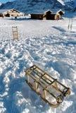 Sneeuw en sleeën Stock Afbeelding