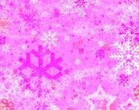 Sneeuw en ster Stock Illustratie