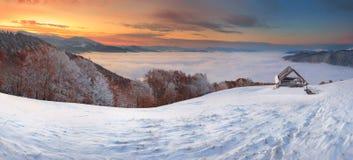 Sneeuw en stoom Stock Foto's
