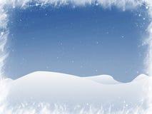 Sneeuw en vlokken stock illustratie