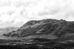 Sneeuw en Wolfberg-de Barsten zijn zichtbaar in Cederberg-Bergen royalty-vrije stock foto's