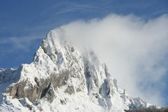sneeuw en wolk Stock Foto's