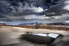 Sneeuw en zand Royalty-vrije Stock Fotografie