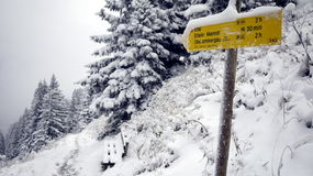 Sneeuw in Ettal Royalty-vrije Stock Foto