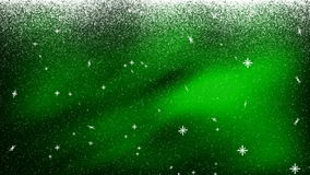 Sneeuw het Vallen GROENE Bkg 1 vector illustratie