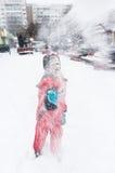 Sneeuw het vechten Stock Fotografie