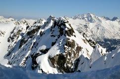 Sneeuw hoge toppen Stock Foto's