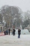 Sneeuw in Istanboel Royalty-vrije Stock Afbeeldingen