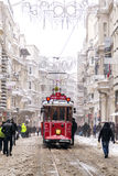 Sneeuw in Istanboel Royalty-vrije Stock Fotografie